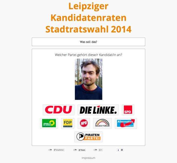 Leipziger Kandidatenraten Stadtratswahl 2014