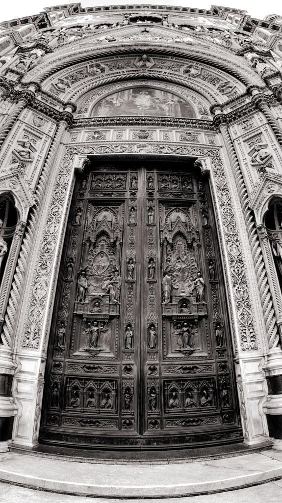 Tür der Kathedrale von Florenz, Italien
