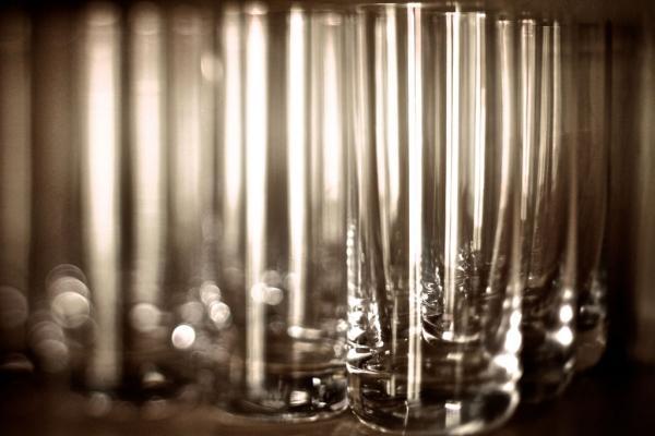 Gläser im Schrank
