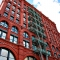 New York City: Schnes altes rotes Haus in Soho