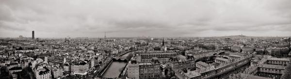 Panorama: Blick von Notre-Dame nach Westen