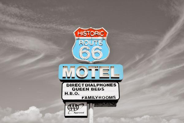 Route 66: Motel in Seligman