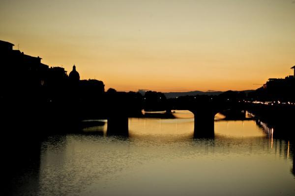 Abendrot in Florenz