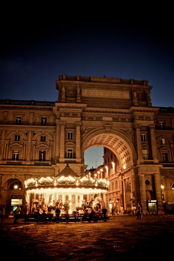 Karussell in Florenz