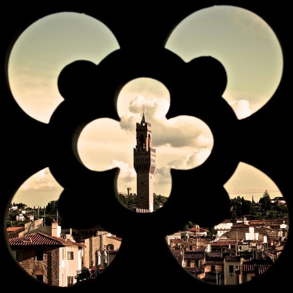 Blick auf das Florentiner Rathaus