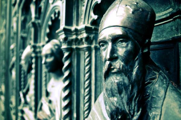Domtür der Kathedrale von Florenz en detail