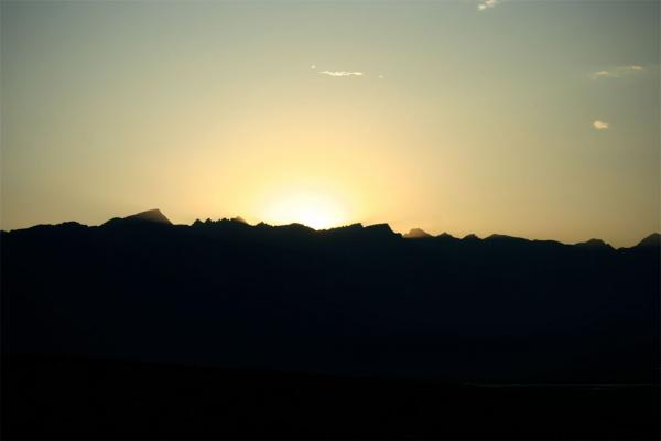 Sonnenuntergang bei Lone Pine