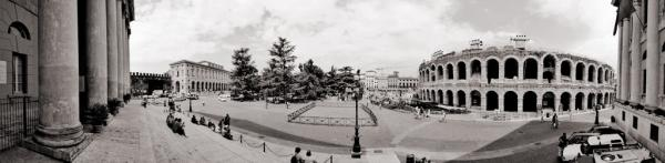 Piazza Bra, Verona, Italien